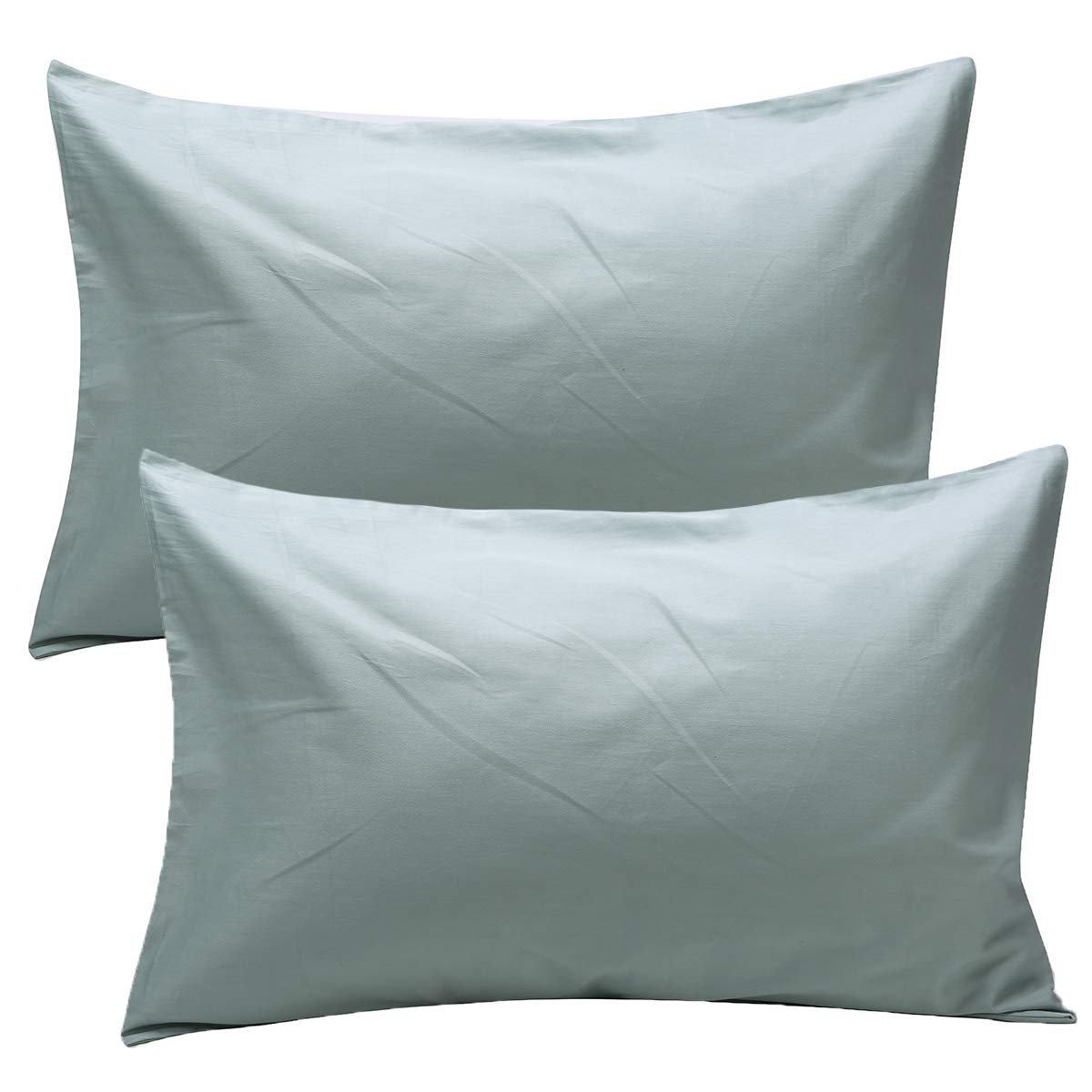 UOMNY Kid Pillowcases 2 Pack 100% Cotton Pillow Cover 14x20 Baby Pillow Cases for Sleeping Tiny Pillows case for Kids Solid Pillowcases Travel Pillowcases Celadon Kids' Pillowcases