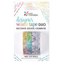 Erin Condren Designer Washi Tape Duo - Kaleidoscope 2 Rolls. Decorative and Cute Adhesive Tape for Customizing Notebooks, Calendars, Agendas, and More