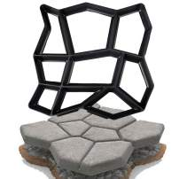 SuperThinker DIY Walk Maker Concrete Molds, Pathmate Stone Mold Paving Pavement Concrete Mould Stepping Stone Paver Walk Way for Garden, Patio, Yard(16.9''X16.9'')
