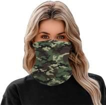 EZBELLE Reusable Face Mask Bandanas for Men Women, Seamless Neck Gaiter Headband, Dust Wind UV Sun Face Cover