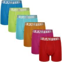 Natural Feelings Mens Underwear Boxer Briefs Men Pack of 5 Soft Cotton Open Fly Underwear