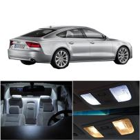 cciyu LED Interior Light Accessories Replacement Package Kit 15 Pack White Replacement fit for Audi A7 Quattro 2012-2016