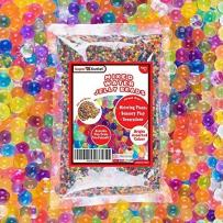 Super Z Outlet Rainbow Color Water Beads - Sensory Toys Water Gel Pearls, Non-Toxic and Reusable - Mini Balls Ideal for Home Decoration - 8 oz Bag, Makes 6 Gallons