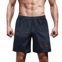 MAGCOMSEN Men's Quick Dry Athletic Running Shorts with Zipper Pockets for Gym, Workout, Hiking