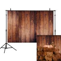 Allenjoy 7X5ft Wooden Floor Photography Backdrop Wood Flat Lay Photographic Background Faux Panel Texture Board Tabletop Photo Studio Props Banner