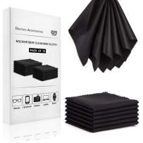 Glasses Cleaning Cloth Microfiber Cloth - Lens Cleaning Cloth 12 Pack Eyeglass Wipes Black Lens Cleaner 5x6 Inch Jewelry Cleaning Cloth Camera Lens Cleaner Laptop Computer Screen Cleaner Wipers Cloths