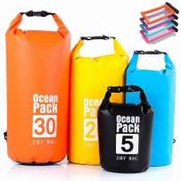 Tubeshine Waterproof Dry Bag Sack Floating 5L, 10L, 20L, 30L, with Waterproof Phone Case, Floating and Lightweight Bags for Boating, Kayaking, Hiking, Gym, Camping, Rafting, Fishing