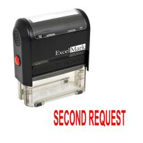 Second Request Self Inking Rubber Stamp - Red Ink