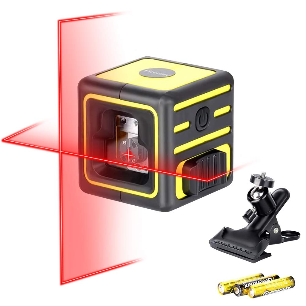 Firecore Laser Level for Picture Hanging, Self-Leveling Cross Lazer Line for Construction(F212A)