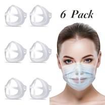 Mask Bracket, 3D Silicone Mask Bracket Internal Support Frame - DIY Face Mask Inner Support Frame Nose Breathing Smoothly - Protect Lipstick Lips - Mask Bracket Guard   Washable Reusable (6 Pack) (1)