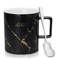 AOOSY Ceramic Coffee Mugs, Novelty Coffee Mugs, 12 oz Ceramic Mug for Milk Tea Coffee, black Cup for Men Boys Husband Dad Grandpa, 1 Pack(A Black Mug)
