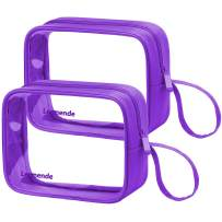 Lermende TSA Approved Travel Toiletry Bag Travel Accessories Clear Quart Size Toiletries Bags (Tote Bag 2 Purple)