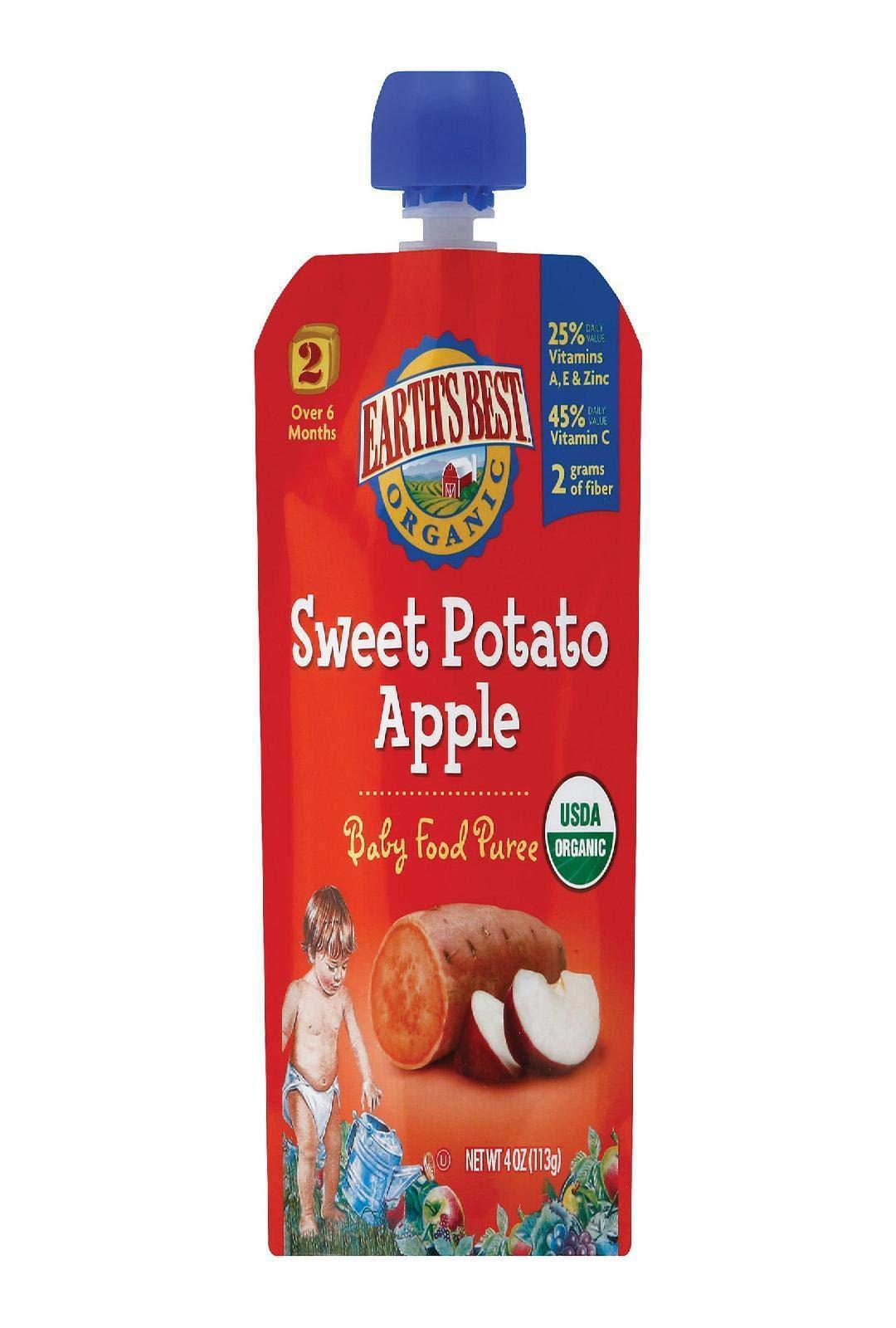 Earth's Best, Organic Sweet Potato & Apple, 4 oz