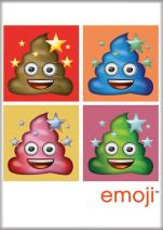 """Ata-Boy Smiling Poops Official Emoji 2.5"""" x 3.5"""" Magnet for Refrigerators and Lockers"""