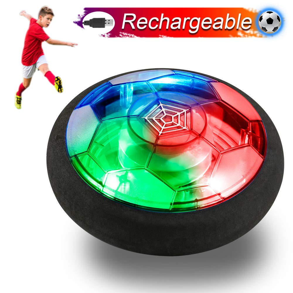 Verkstar Kids Toys Rechargeable Air Power Soccer Ball, Kids Disk Hover Ball Equipped, Time Killer for Boys/Girls Sports Toys Foam Bumpers for Indoor Outdoor Activities