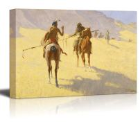 """wall26 - The Parley by Frederic Remington - Canvas Print Wall Art Famous Painting Reproduction - 12"""" x 18"""""""