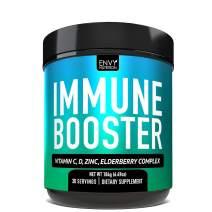 Immune Booster Powder – Vitamin C, Magnesium, Vitamin D, Zinc, Elderberry, Echinacea, Mushroom Blend for Immune Support | 30 Servings