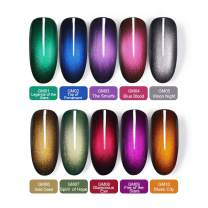 BORN PRETTY Glamorous Cat Eye Gel Polish Soak Off Magnetic Nail UV Jewel Gem Varnish Set 10 Colors and 1 Base Color