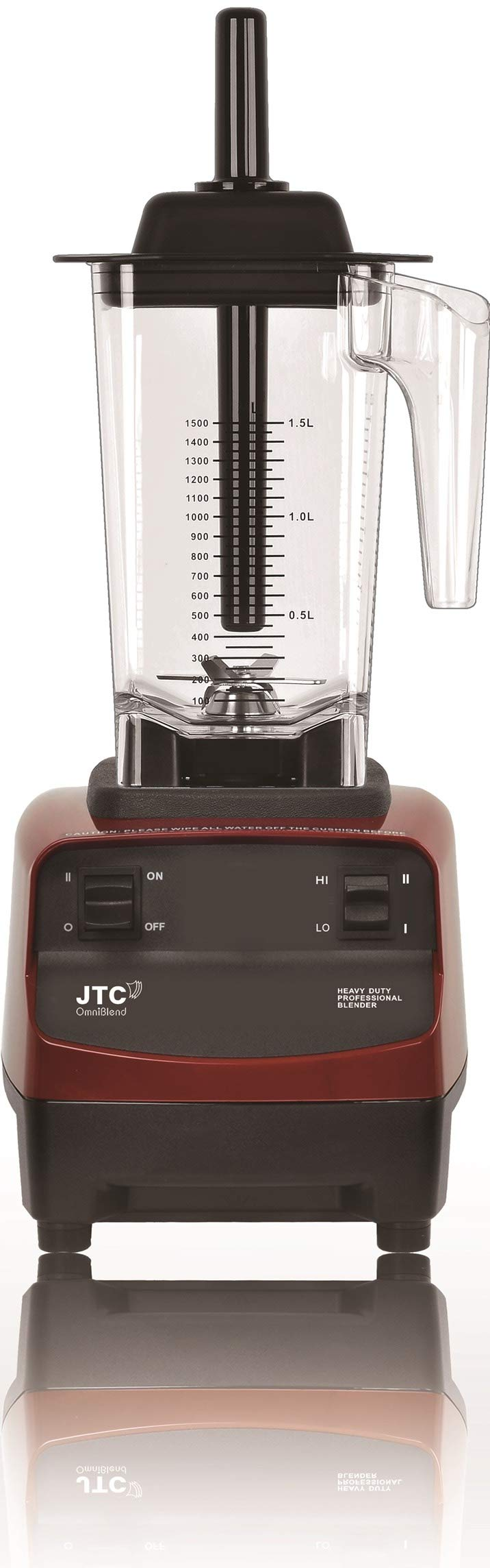 OmniBlend III Commercial Blender for Smoothies, Heavy Duty 2-Speed, Self Cleaning, 2-in-1 Wet Dry Multifunctional, 1.5 Liter BPA-Free Shatter-Proof Jar (Maroon)