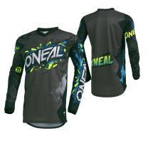 O'Neal 001E-913 Men's Element Villain Jersey (Gray, Medium)