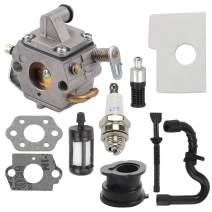 MS170 Carburetor fit MS180 Carburetor 017 018 MS170C MS180C Chainsaw 1130 120 0603 & 1130 124 0800 Air Filter