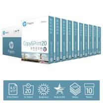 HP Printer Paper 8.5x11 Copy&Print 20 lb 10 Ream Case 5000 Sheets 92 Bright Made in USA FSC Certified Copy Paper HP Compatible 200060C