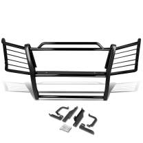 DNA Motoring GRILL-G-009-BK Mild Steel Front Bumper Grille Brush Grush Frame