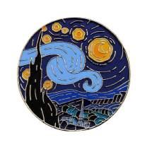 Van Gogh Starry Night Enamel Lapel Pin