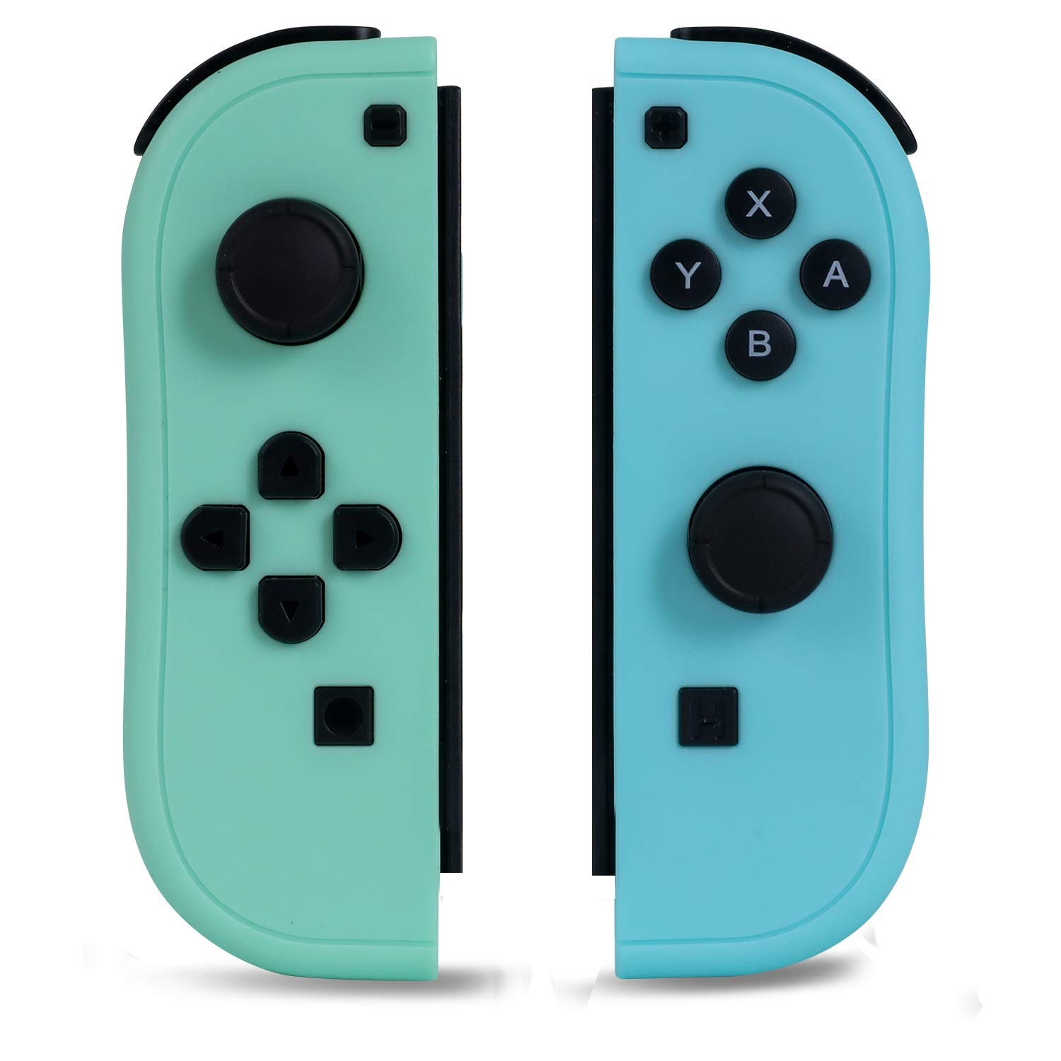 NOPOINO Joy-Pad Controller Compatible with Switch,Switch Gamepad with Dual Vibration Motor Gyroscope, with Wrist Strap and Support Wake-up Function(Green and Blue)