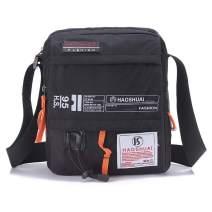 JAKAGO Waterproof Messenger Bag Shoulder Crossbody Bag Mobile Phone Pouch Passport Holder Mens Purse Bag 10.1 inch Tablet Bag Work Field Bag for Travel (Black)