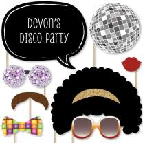 Custom Retro 70's Photo Booth Props - Personalized 1970s Disco Fever Party Supplies - Seventies Disco Party Accessories - 20 Selfie Props