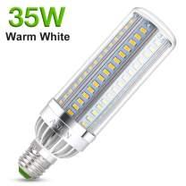 (Big Sale) ASIGN 35W Warm White LED Corn Light Bulb, 3900lm Equivalent 260w Halogen Bulb 3000K Soft White E26 E27 Light Bulbs for Warehouse Church Shop Factory Garage, etc.
