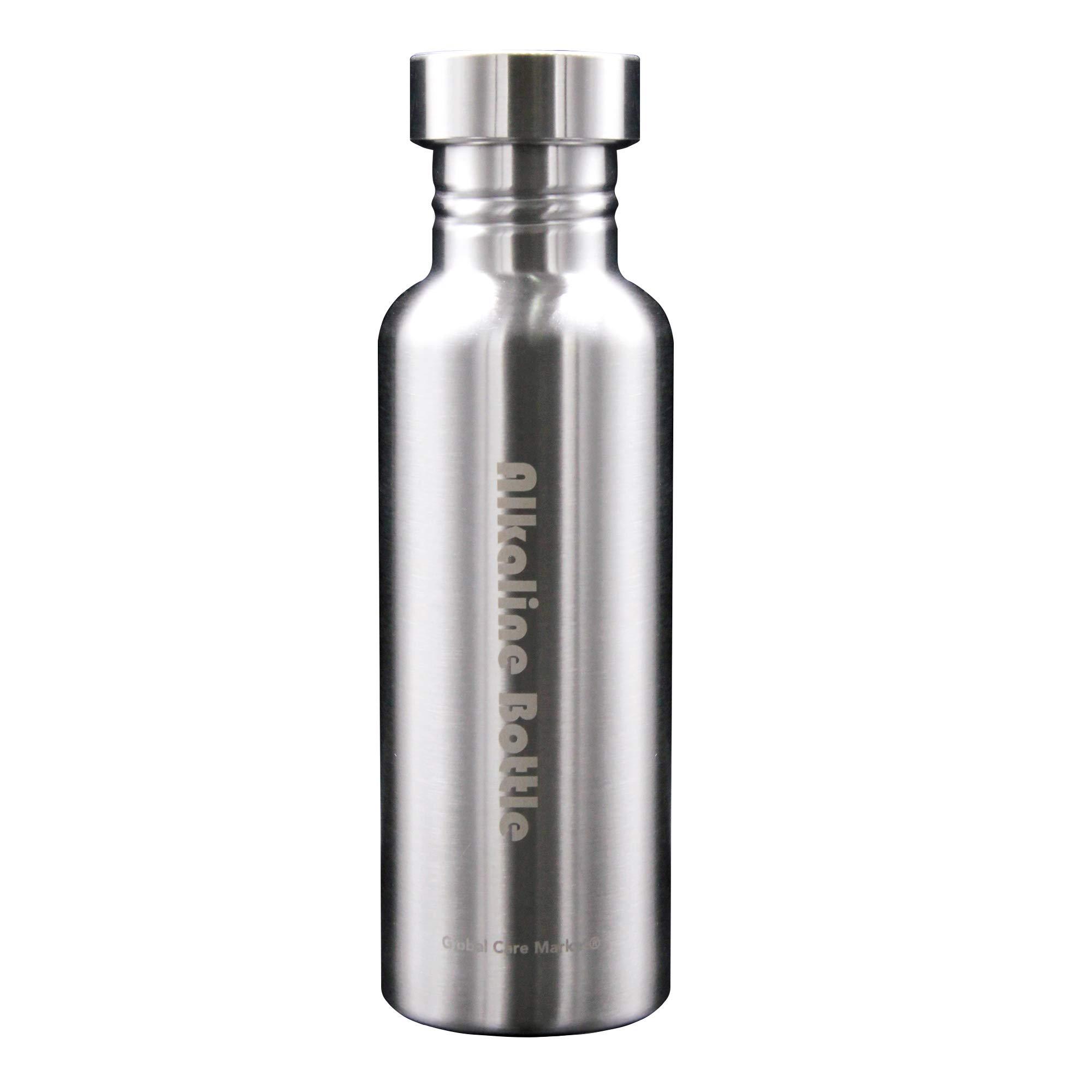 Global Care Market New Alkaline Water Bottle Big 650ml Capacity Nano Energy Water Flask Stainless Steel Alkaline Water Filter Bottle to Naturally Enhance Drinking Water