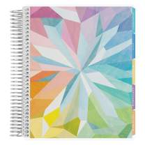 Erin Condren 12 - Month 2020-2021 Kaleidoscope Colorful Coiled Life Planner with Layers Colorful Interior (July 2020 - June 2021) Hourly Layout. Organizer, Monthly Calendar Tabs and Stickers