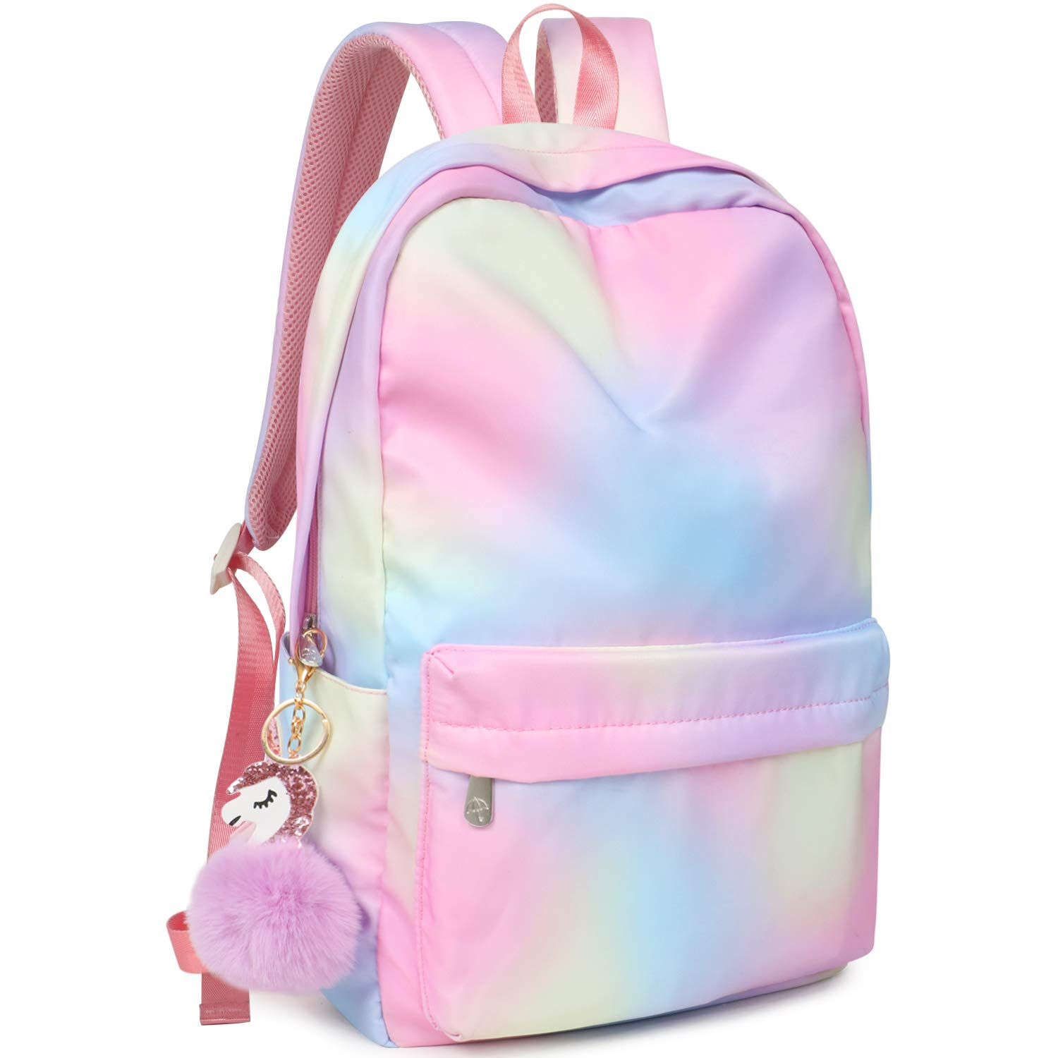"""Backpack for Girls Water Resistance School Book Bag 15.6"""" Laptop compartment College Daypack Bookbag"""