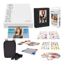 Polaroid Mint Pocket Printer - White with 2x3ʺ Premium Photo Paper 20-Pack, Soft Camera case, Zink Paper Unique Colorful Stickers & Photo Album Accessories