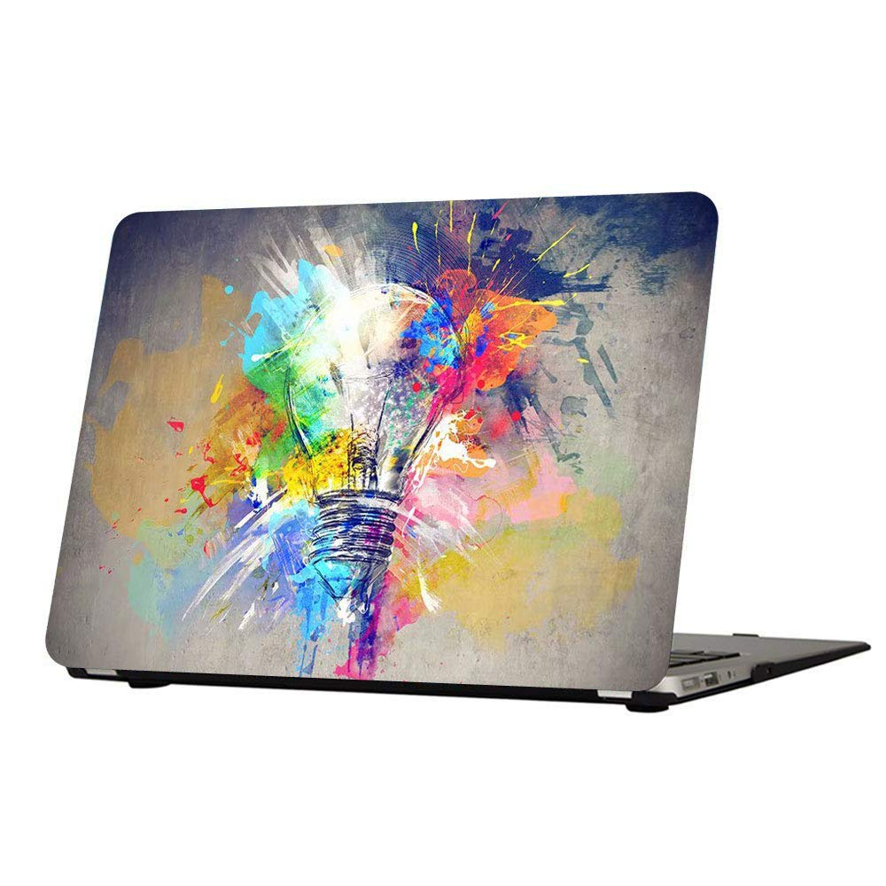 MacBook Air 13 Inch Case, Funut Matte Rubber Coated Soft Touch Plastic Hard Case Shell Fashion Style for MacBook Air 13.3 Inch A1466 A1369, Creative Lamp