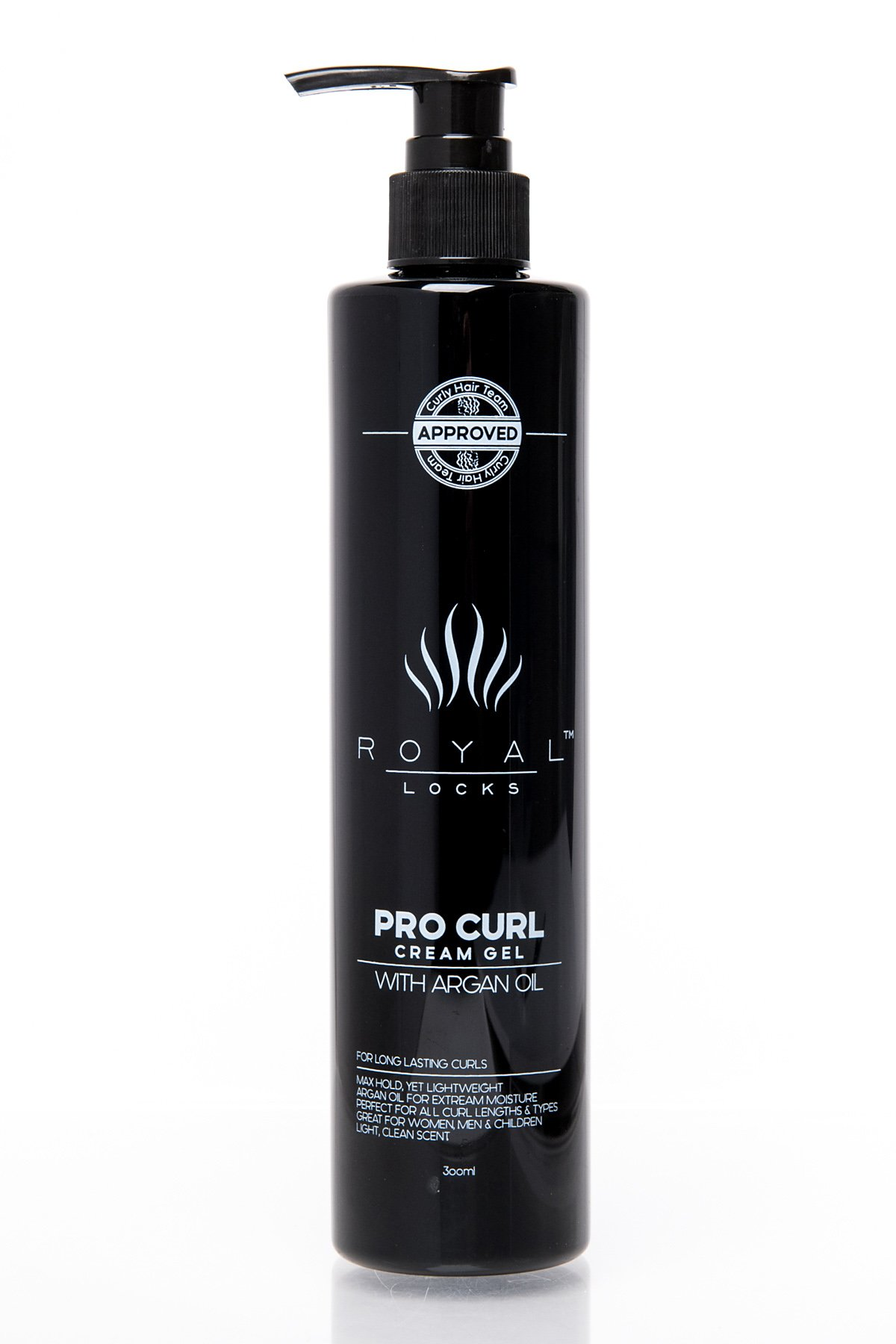 Royal Locks Pro Curl Cream Gel   Lightweight Cream Gel for Defining, Activating, Frizz Reduction, and Hold of Wavy and Curly Hair   with Argan Oil and other Nourishing Botanicals   10 Oz