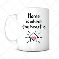 Home Is Where The Heart Is-Home Owner Mug,Housewarming Gifts,Housewarming Coffee Mug,New Home Gift,Newlyweds Gift, Mother's Day Gift,New House Gift,New House Mug,Real Estate Gift,Gift for Mom