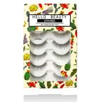 JIMIRE False Eyelashes 110 Lashes Natural Multipack Fake Eyelashes (5 Pairs)