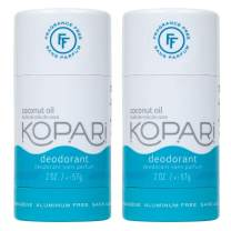 Kopari Aluminum-Free Deodorant Fragrance Free for Sensitive Skin | Non-Toxic, Paraben Free, Gluten Free & Cruelty Free Men's and Women's Deodorant | Made with Organic Coconut Oil | 2 Pack, 2.0 oz