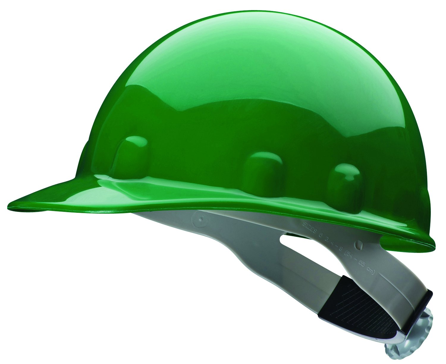 Fibre-Metal by Honeywell SuperEight Thermoplastic Cap-Style Hard Hat with 8-Point Ratchet Suspension, Green