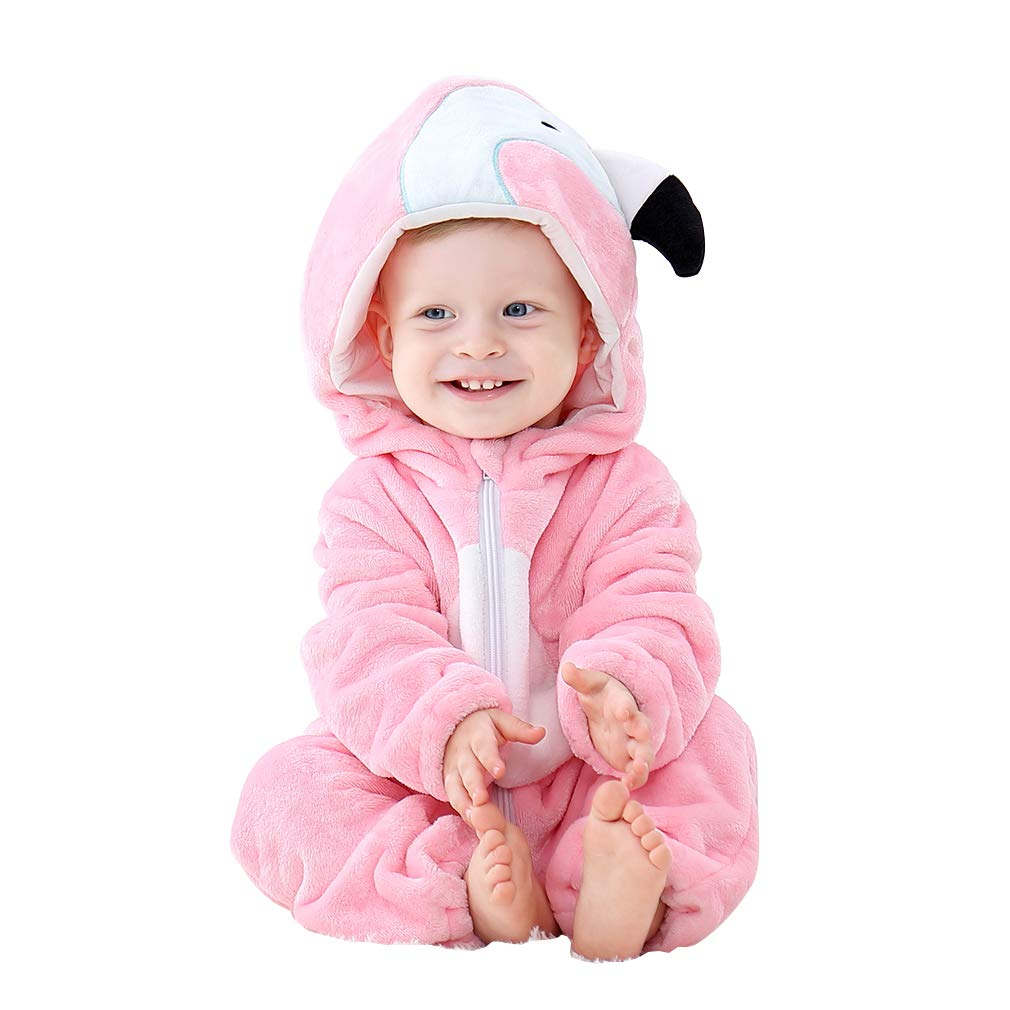 IDGIRL Baby Costume, Animal Cosplay Pajamas for Boys Girls Winter Flannel Romper Outfit 2T