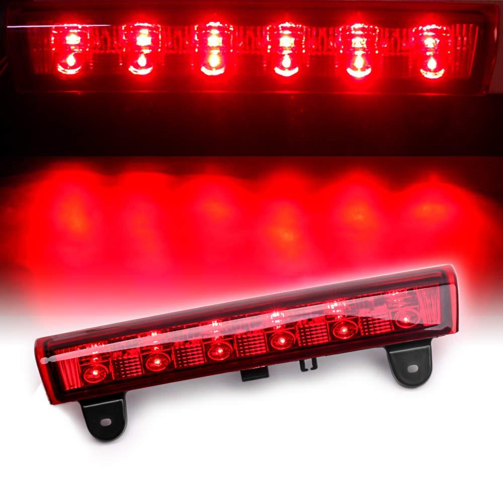 For 2000-2006 Chevy Tahoe Suburban 1500 2500 GMC XL 1500 2500 Denali XL Chevrolet High Mount LED Rear 3RD Brake Stop LED Light (Red Housing II)