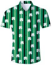 Goodstoworld Men's Novelty Hawaiian Button Down Shirts