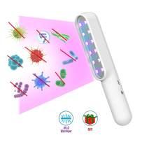 V Light Sanitizer, Portable UV Sterilizer, Handy UV Sanitizer Wand for Hotel Household Wardrobe Toilet Car Pet Area as Phone Sanitizer UV (Pure White)