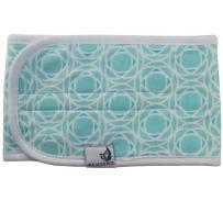 Adjustable Organic Cotton Baby Belly Band, Warmer, Waistband, Newborn to 12 Months, by MEMEENO (Aqua Lattice)