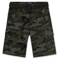 Cargo Shorts for Men - Mens Cargo Shorts with Belt - Twill Shorts by ECKO