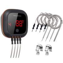Inkbird IBT-4XS Bluetooth Smoker Thermometer, Cooking Digital BBQ Thermometer with Rechargeable Battery, 150 feet Alarm and Timer Kitchen Grill Thermometer for Grilling, Roasting, Oven, Drum