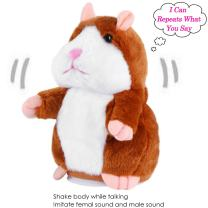 Sealive Talking Hamster Repeats What You Say, Funny Repeating Hamster Toy Cheeky Hamster Plush Baby Doll Valentine Gifts for Kids Adults Boys Girls